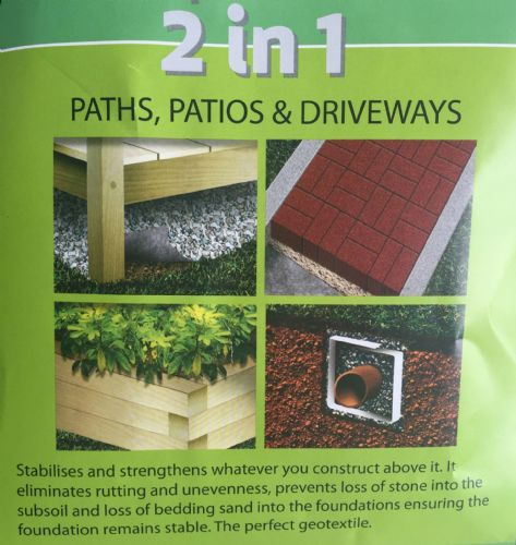 2 in 1 Weed Prevention - 4.5 x 11m